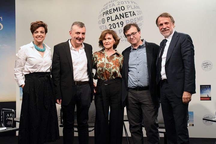 Cristina Villanueva, Manuel Vilas, Carmen Calvo, Javier Cercas y José Creuheras