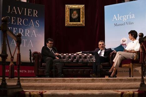 """Vuelven las """"Tardes Literarias"""" en la RAE de la mano de Javier Cercas y Manuel Vilas, premios Planeta 2019"""