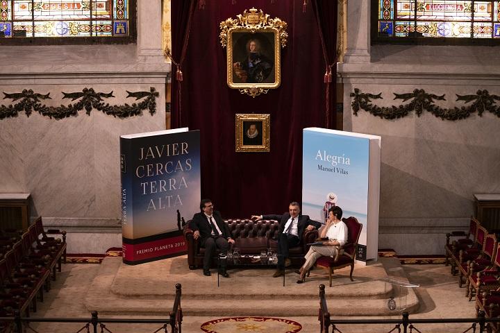 Javier Cercas, Manuel Vilas y Cristina Villanueva