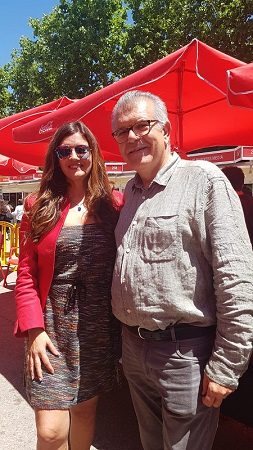Rosario Raro y Javier Velasco Oliaga en la Feria del Libro de Madrid