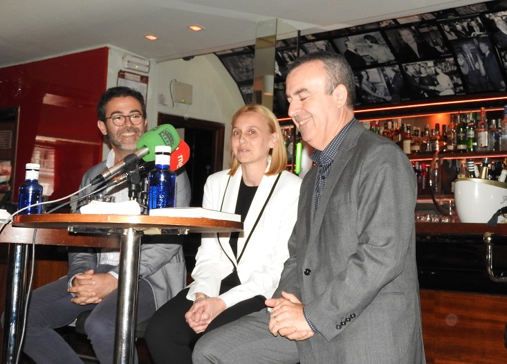 Emili Rosales, Noemí Trujillo y Lorenzo Silva