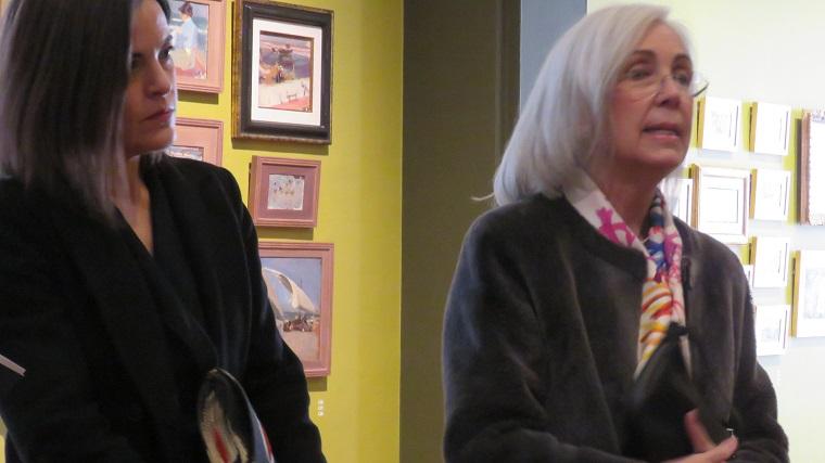 María López Fernández y Blanca Pons-Sorolla, comisarias de la exposición
