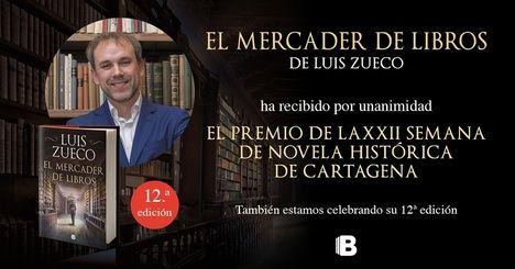 Luis Zueco gana el premio de novela histórica Ciudad de Cartagena por