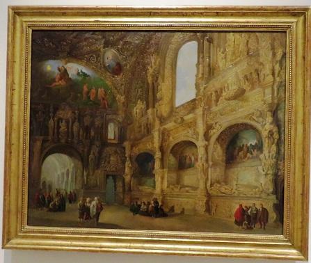 La capilla de los Benavente en Medina de Rioseco, 1842. Genaro Pérez Villaamil