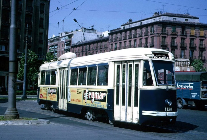 Tranvía madrileño de los años sesenta
