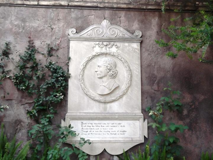 Tumba de John Keats en Roma