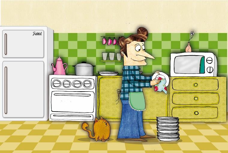 Un papá en las tareas del hogar