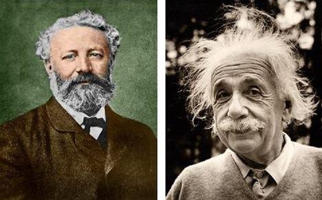Jules Verne y Albert Einstein