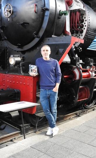 Carlos Vila Sexto en el Museo del Ferrocarril