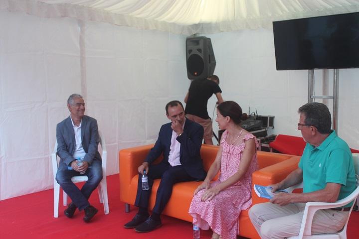 Marcelino Agís Villaverde en la presentación de su último libro