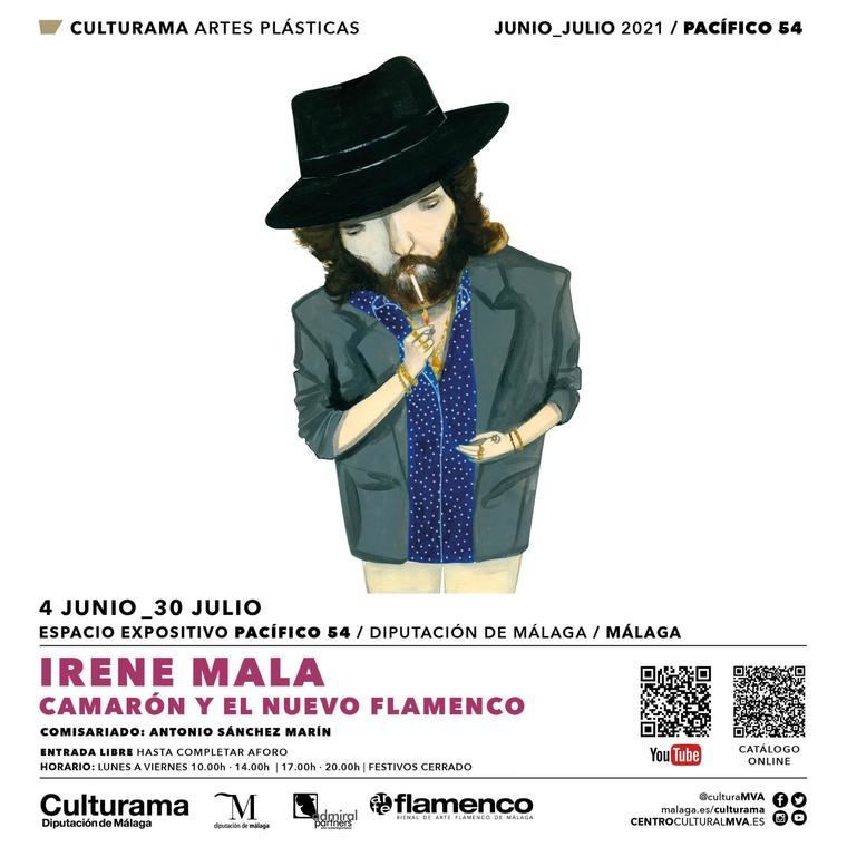 Cártel de la exposición de Irene Mala