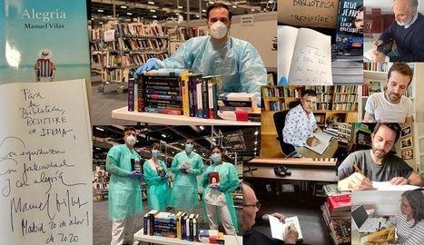 La «Biblioteca RESISTIRÉ» recibe un centenar de libros dedicados por escritores de la Editorial Planeta