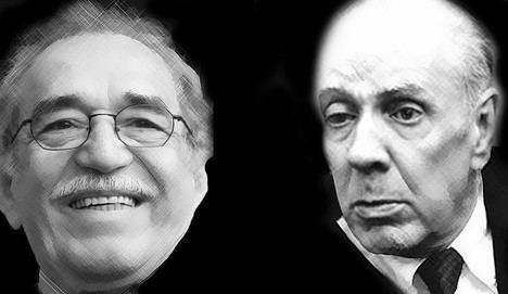 Gabriel García Márquez y Jorge Luis Borges