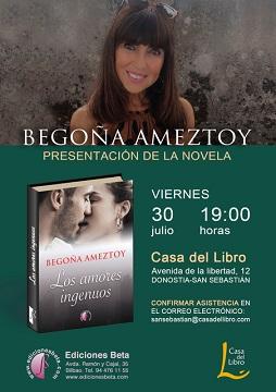 La escritora Begoña Ameztoy presenta la novela