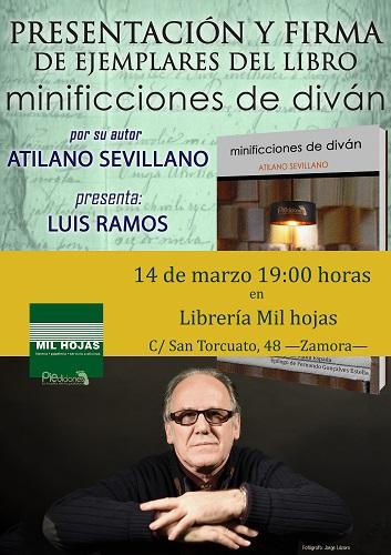 Cartel de la Librería Mil Hojas