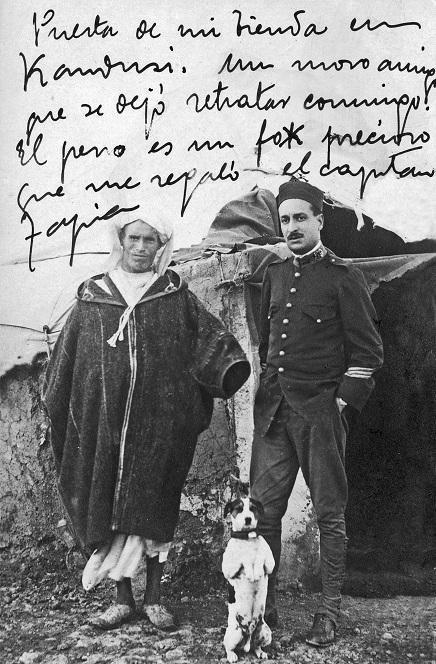 Francisco Basallo con un amigo rifeño antes de la guerra