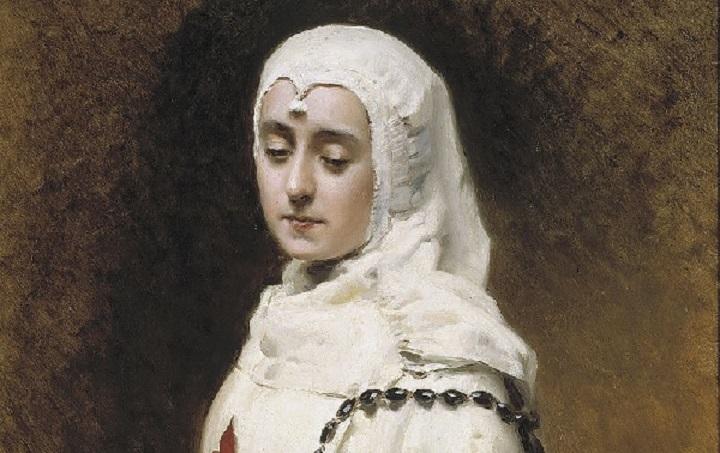 Maria Guerrero con el habito de Doña Inés