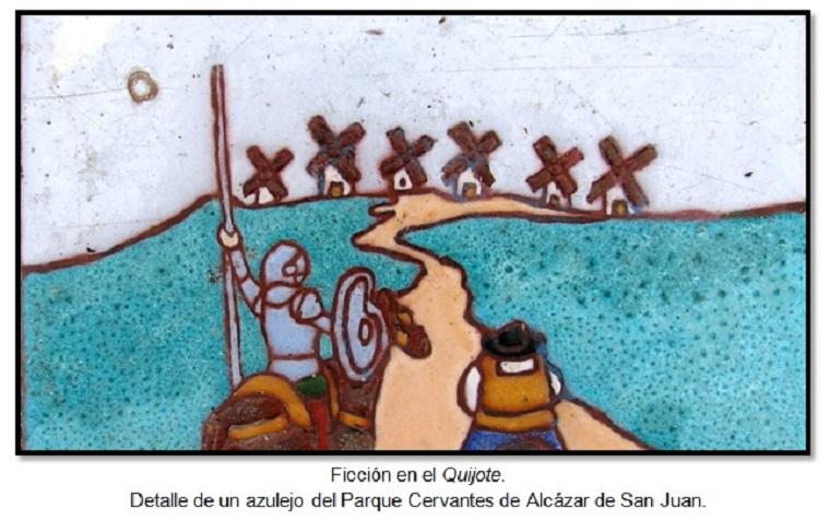 Detalle de un azulejo de Alcázar de San Juan