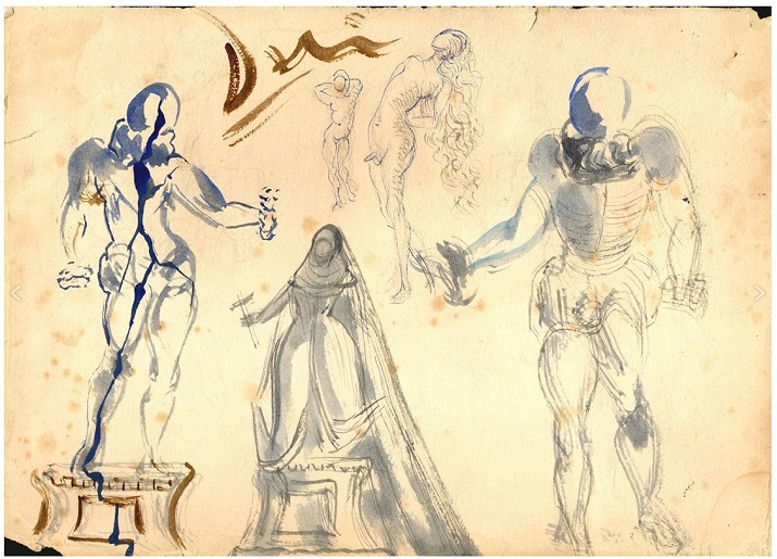 Figurines de Salvador Dalí para el Don Juan Tenorio de Zorrilla