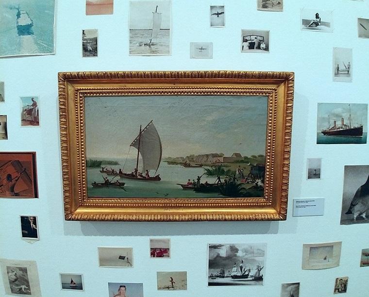 Detalle de la exposición Inauguración de la exposición 'Patrick Pound: Fotografía y Aire'