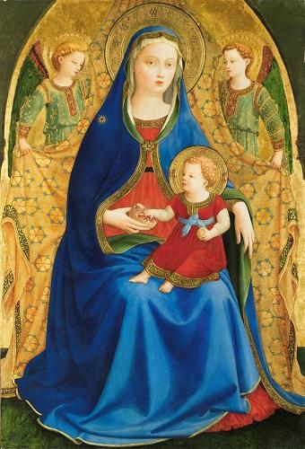 Virgen con el Niño y dos ángeles o Madonna de la granada