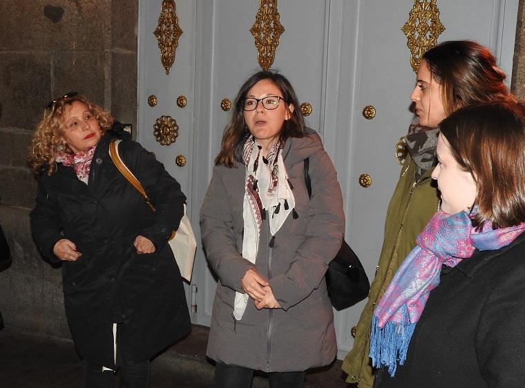 María Reig durante su paseo literario por Madrid