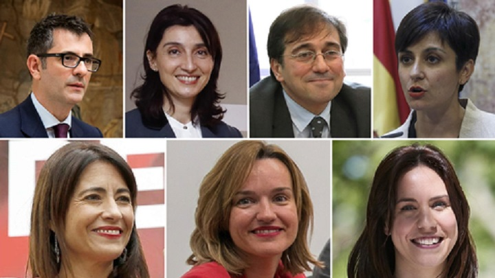Las nuevas caras del gobierno de Sánchez