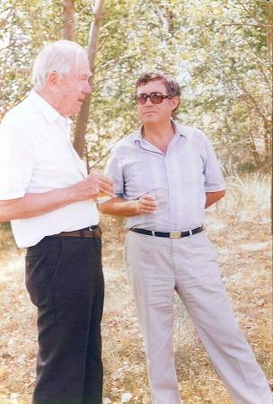 Graham Greene y Aurelio Verde en el bosque