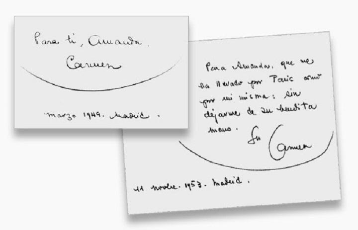 Dedicatoria de Carmen Conde
