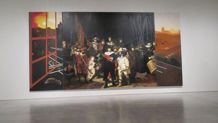 Ronda de noche con porras, 1976. Eduardo Arroyo