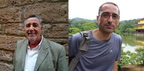Jesús Maeso de la Torre y Sergio Vega en la VII edición del Certamen de Novela Histórica