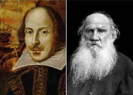 William Shakespeare y León Tolstoi