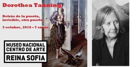 Dorothea Tanning, detrás de la puerta, invisible, otra puerta.- Exposición en el Museo Nacional Reina Sofía de Madrid; la línea del horizonte como elemento de fuga