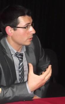 Gregorio Muelas durante la entrevista
