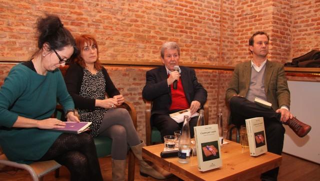 Marta Sanz, Sara Mesa, Jorge Herralde y  Marcos Giralt Torrente