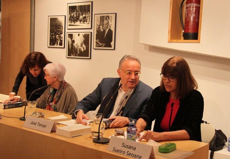 Cristina Castro, Ana Martín Gaite, Ángel Teruel y Susana Sueiro Seoane