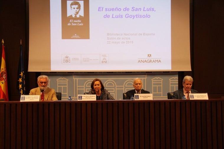 Darío Villanueva, Ana Santos Aramburo, Luis Goytisolo y Jorge Herralde