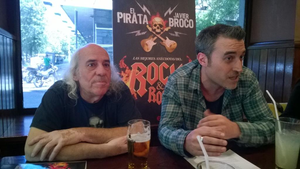 """Presentación """"Las mejores anécdotas del Rock&Roll"""" de El Pirata y Javier Broco"""