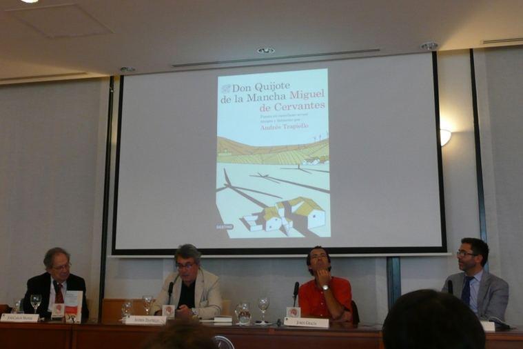 José Carlos Mainer, Andrés Trapiello, Jordi Gracia y Emilio Rosales