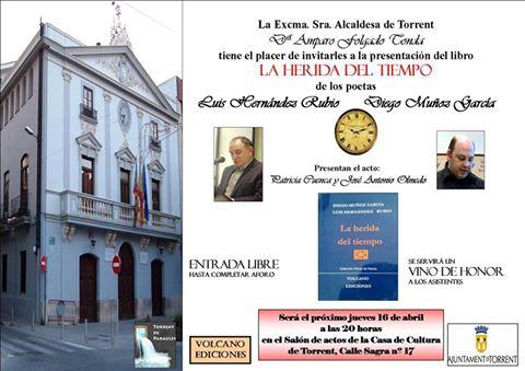 Presentación del poemario 'La herida del tiempo' de Luis Hernández Rubio y Diego Muñoz García