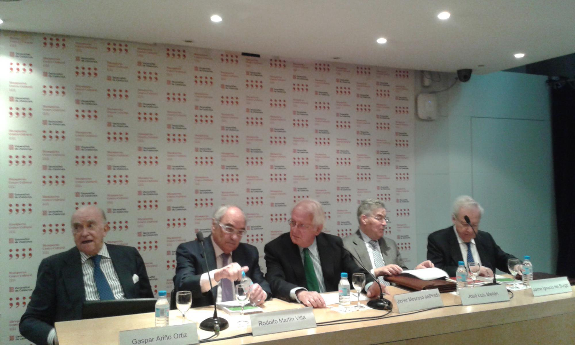 Gaspar Ari�o, Rodolfo Mart�n Villa, Jos� Luis Meil�n, Juan Ignacio del Burgo y  Javier Moscoso