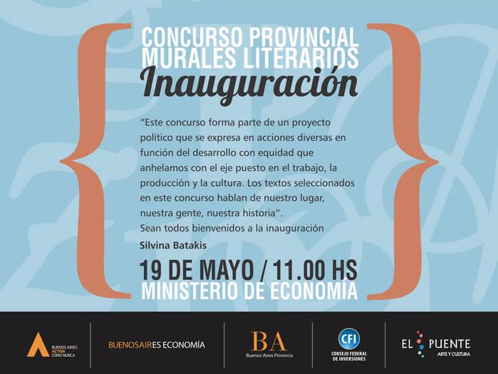 Inauguran Murales Literarios en el Ministerio de Economía de la provincia de Buenos Aires