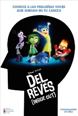 """Del revés (Inside out) "", dirigida por Pete Docter"