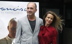 Silvia Abascal y Dario Grandinetti durante la  presentaci�n de la pel�cula FRANCISCO