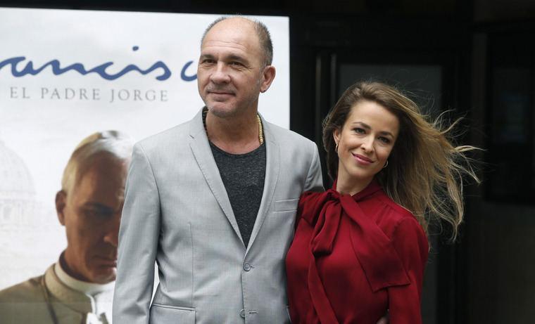 Silvia Abascal y Dario Grandinetti durante la  presentación de la película FRANCISCO