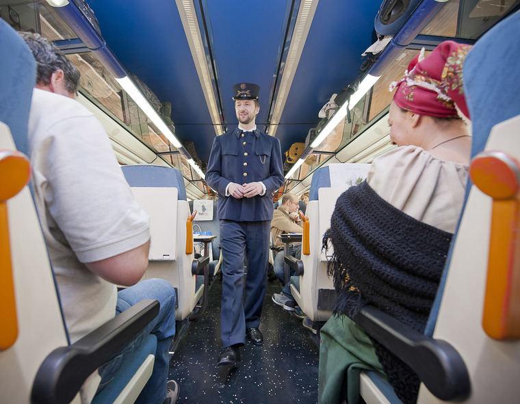 Teatralización en el tren