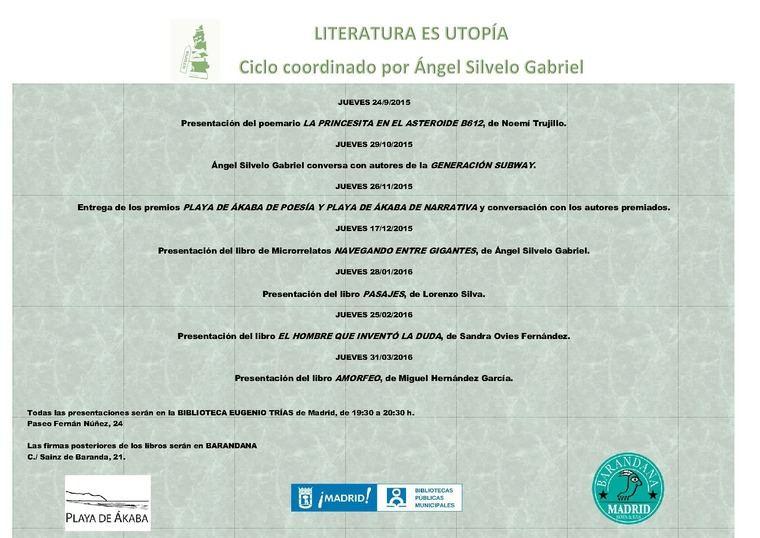Literatura es utopía