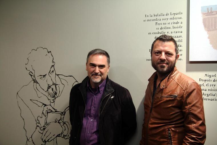 Miguelanxo Prado, a la izquierda con David Rubín