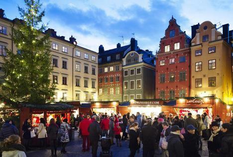La capital de Suecia se llena de vida por Navidad