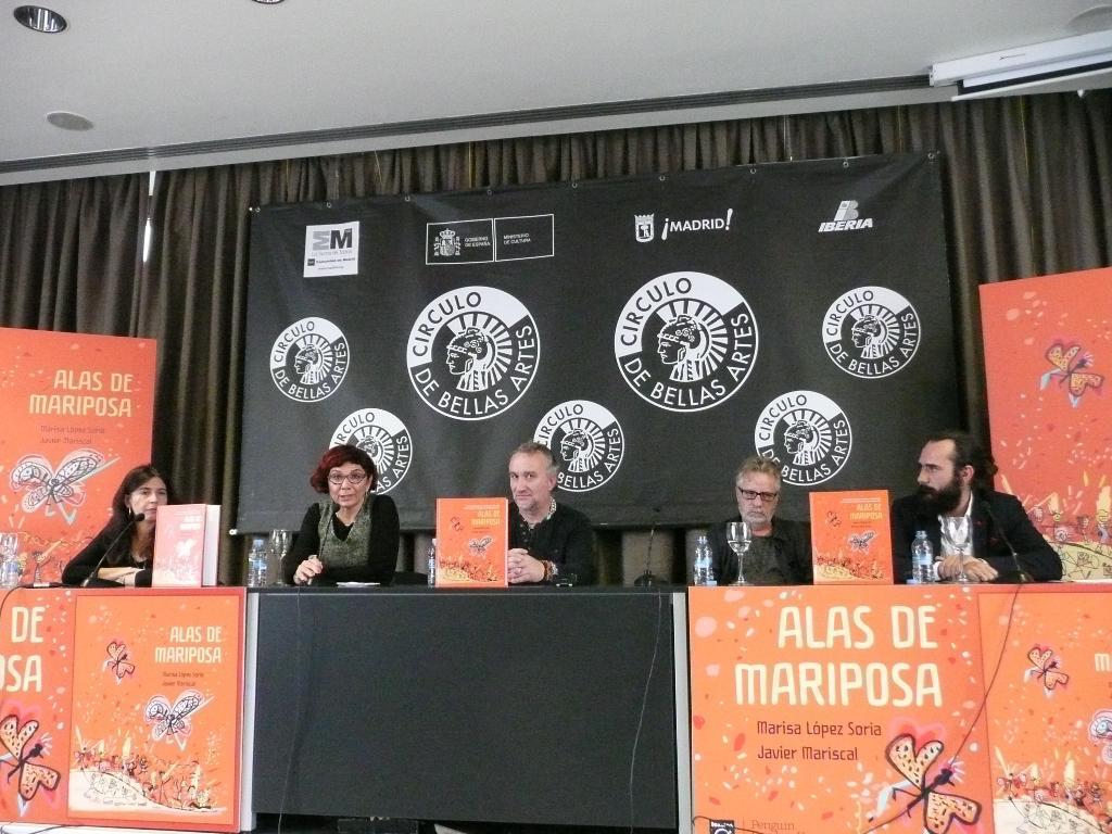 """Presentación de """"Alas de mariposa"""" de Marisa López Soria y Javier Mariscal"""